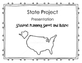 States Project and Presentation Rubric and Planning Sheet