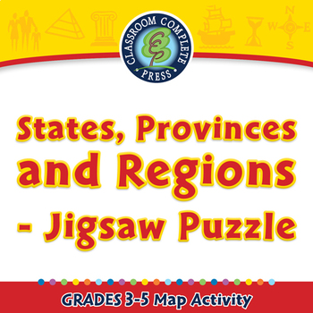 States, Provinces and Regions - Jigsaw Puzzle - Activity - MAC Gr. 3-5