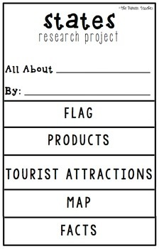 {States Research Project} Flip Book