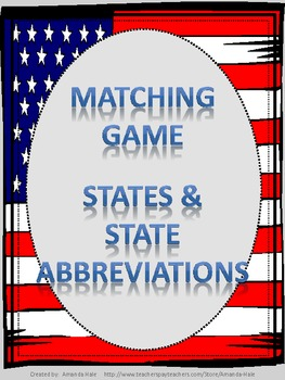 States & State Abbreviations_Matching Game