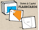 States & State Capitals Flashcards & Game