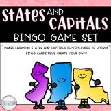 States and Capitals Bingo Set