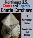 US Geography Unit: States and Capitals Foldable (Northeast Region)