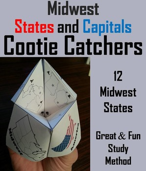 US Geography Unit: States and Capitals Foldable - Midwest Regions