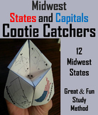 States and Capitals Activity: Midwest Region (US Geography Game)