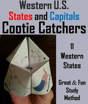US Geography Unit: States and Capitals Foldable (Map Skills Unit)