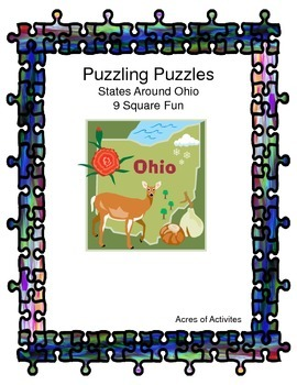 States and Capitals 9 Square Puzzle