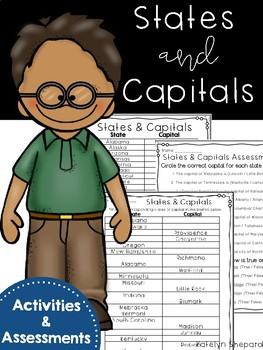 States and Capitals {{Activities & Assessments}}