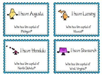 States and Capitals Activity Bundle