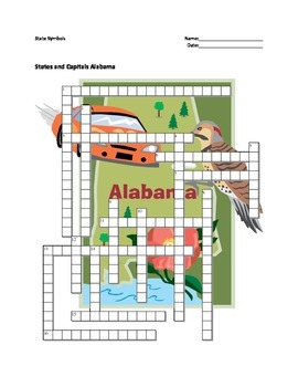 Alabama state symbols teaching resources teachers pay teachers states and capitals alabama state symbols crossword puzzle ccuart Image collections