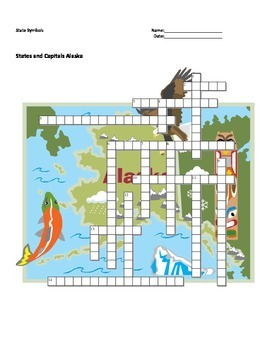 States and Capitals - Alaska State Symbols Crossword Puzzle