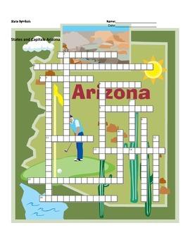 Arizona state symbols teaching resources teachers pay teachers states and capitals arizona state symbols crossword puzzle ccuart Image collections