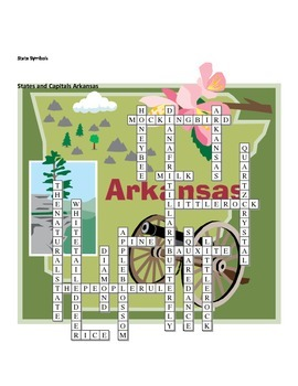 States and Capitals - Arkansas State Symbols Crossword Puzzle