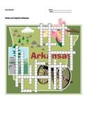 States and Capitals - Arkansas State Symbols Crossword Puzzle