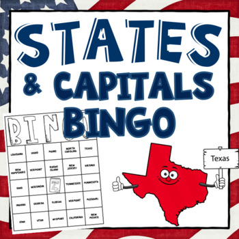 States and Capitals BINGO