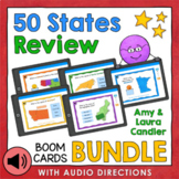 States and Capitals Boom Cards Bundle (With Audio Options)