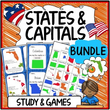 States and Capitals Activities & Study Sheets