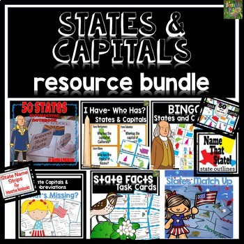 States and Capitals Bundle