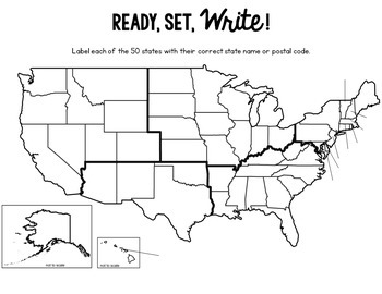 States and Capitals Bundled Set {Review, Shuffle, Repeat Flash Card Set}