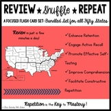 States and Capitals Bundled Set {Review, Shuffle, Repeat F