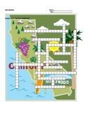 States and Capitals - California State Symbols Crossword Puzzle