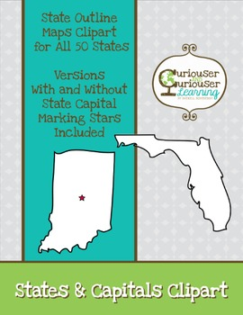 States and Capitals Clipart