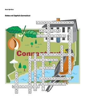 States and Capitals - Connecticut State Symbols Crossword Puzzle
