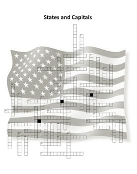 States and Capitals - Crossword Puzzle