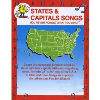 States and Capitals Songs DVD from Audio Memory/Kathy Troxel