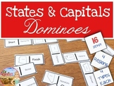 States and Capitals Dominoes Matching Game