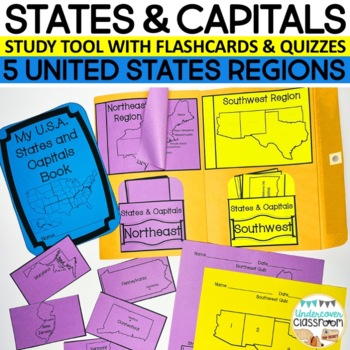 States and Capitals Envelope Book/Study Tool Kit