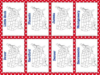 States and Capitals Trading Card Activities