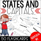U.S. States and Capitals Flashcards Version #1