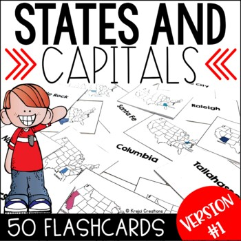 States and Capitals Flashcards Bundle