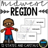States and Capitals Flashcards Midwest Region FREEBIE