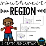 States and Capitals Flashcards Southwest Region