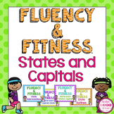 States and Capitals Fluency & Fitness Brain Breaks Bundle