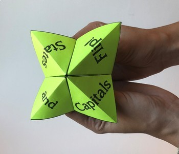States and Capitals Fortune Tellers