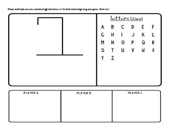States and Capitals Hangman Game