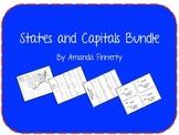 States Quiz/Test & Study Sheet, States and Capitals: I hav