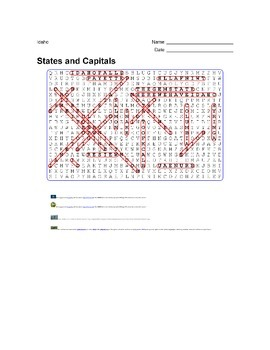 States and Capitals - Idaho State Symbols Wordsearch Puzzle