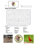 States and Capitals - Illinois State Symbols Wordsearch Puzzle