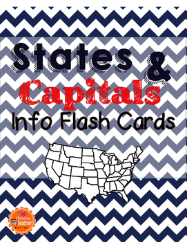 States and Capitals Info Flash Cards