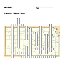 States and Capitals - Kansas State Symbols Crossword Puzzle