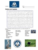 States and Capitals - Louisiana State Symbols Wordsearch Puzzle