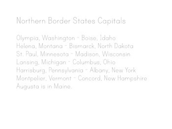 States and Capitals Lyrics, Maps, Printing Practice - Kathy Troxel