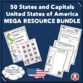 States and Capitals Mega Resource & Activity Bundle USA #50states #socialstudies