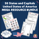 States and Capitals Mega Resource & Activity Bundle USA #5