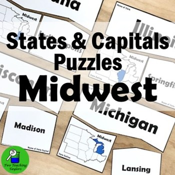 States and Capitals: Midwest Puzzles