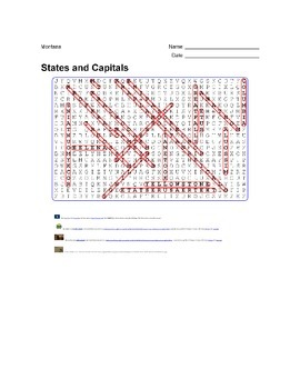 States and Capitals - Montana State Symbols Wordsearch Puzzle